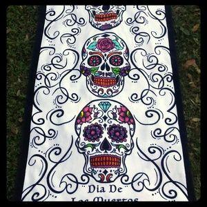 Sugar Skulls Goth Day of Dead 2Pc Bath Hand Towels